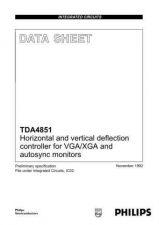Buy MODEL TDA4851 Service Information by download #124734