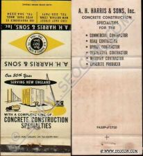 Buy CT New Britain Matchcover A H Harris & Sons Inc Concrete Construction Spec~1649