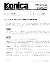 Buy Konica 01 UTILITIES AND FIRMWARE R Service Schematics by download #135791