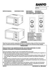Buy Sanyo Service Manual For EM-P1000EUK Manual by download #175823