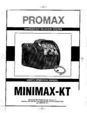 Buy Amprobe MINIMAXKT Operating Guide User Instructions by download Mauritron #1944