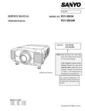 Buy Sanyo Service Manual For PLV-HD100 Manual by download #176009
