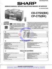 Buy Sharp CD-CPC3H SM GB Manual by download #179986