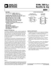 Buy INTEGRATED CIRCUIT DATA AD844J Manual by download Mauritron #186384