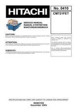 Buy Hitachi HITACHI-CM721FET Manual by download #170972