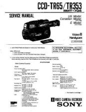 Buy SONY CCD-TR614 Service Manual by download #166431