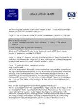 Buy HP LASERJET 45XX SERVICE MANUAL UPDATE MAR03 by download #151301