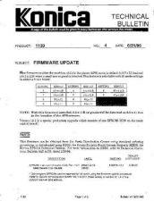 Buy Konica 04 FIRMWARE UPDATE Service Schematics by download #135854