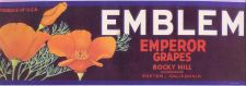 Buy CA Exeter Fruit Crate Label Emblem Emperor Grapes Rocky Hill~3