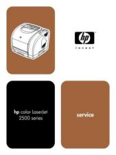 Buy HP COLOR LASERJET 2500 SERVICE MANUAL by download #151225
