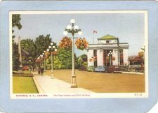 Buy CAN Victoria Postcard The Flower Baskets & C P R Building Street Scene w/O~207