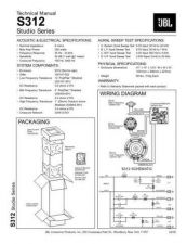 Buy INFINITY S312 STUDIO SERIES TS Service Manual by download #151462