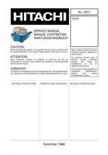 Buy HITACHI No 0201E Service Data by download #150961