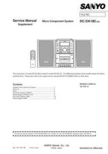 Buy Sanyo DC-DA170A(1) Manual by download #173862