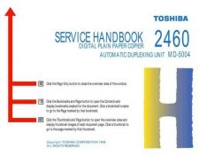 Buy Toshiba 2460SH Service Manual by download #139229