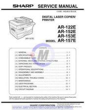 Buy Sharp AR150-155-F151 SM DE Manual by download #179346