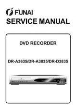 Buy Funai FUNAI DR-A3635 -A3835 -D3835 (E7B20 23 24ED) SERVICE MANUAL Manual by down