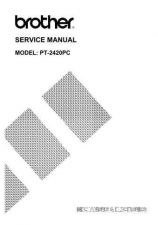 Buy BROTHER PT-530, 550 SERVICE MANUAL Service Manual by download #146341