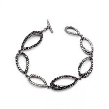 Buy Clear And Black Drop Bracelet