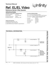 Buy INFINITY REFERENCE EL TS Service Manual by download #147659