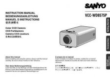 Buy Sanyo VCC-WB2000P-01 Manual by download #177390