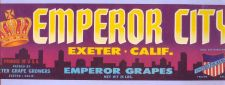 Buy CA Exeter Fruit Crate Label Emperor City Emperor Grapes~5
