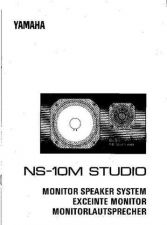 Buy Yamaha NS10MSTUDIOE Operating Guide by download Mauritron #204962