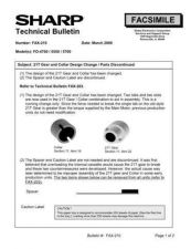 Buy Sharp FAX210 Technical Bulletin by download #138943