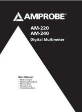 Buy Amprobe AM12 User Instructions Operating Guide by download Mauritron #194235
