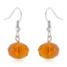 Buy Orange Faceted Bead Earrings