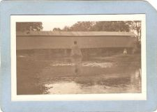 Buy GEN Unknown Covered Bridge Postcard Covered Bridge Real Photo Post Card RP~1051