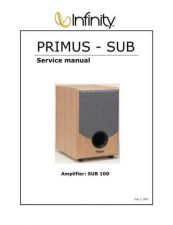Buy INFINITY PRIMUS SUB SERVICE MANUAL Service Manual by download #147621