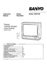 Buy Sanyo CBP2168 Manual by download #172772