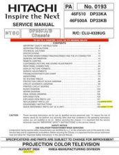 Buy HITACHI 46F510 USA Service Manual by download #163388