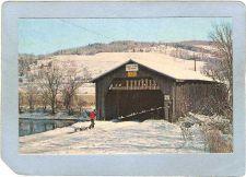 Buy DE Hamden Covered Bridge Postcard Hamden Bridge Over The Delaware River Wo~41