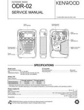 Buy Kenwood ODR02 Service Manual by download Mauritron #192472