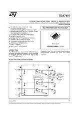 Buy MODEL TDA7497 Service Information by download #124811