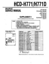 Buy Sony HCD-H771 No CD Loading (HFP0539) Service Schematics by download #159524