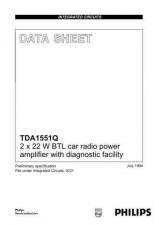 Buy MODEL TDA1551Q Service Information by download #124671