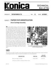 Buy Konica 08 PAPER PATH MODIFICATION - DRUM CARTRIDGE ASSEMBLY Service Schematics b