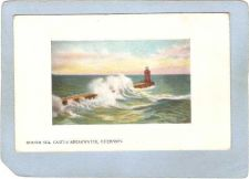 Buy GUE Guernsey Lighthouse Postcard Rough Sea Castle Breakwater lighthouse_bo~1004