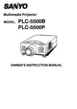 Buy Sanyo PLC-400PP Operating Guide by download #169480