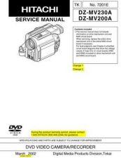 Buy Hitachi DZMV230A Service Manual by download Mauritron #193875