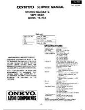 Buy ONKYO TA2040SM Service Manual by download Mauritron #193463