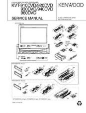 Buy KENWOOD KVT-910 920 930 940 960DVD Technical Info by download #148270