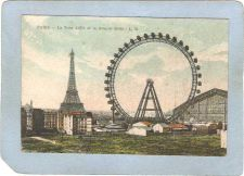 Buy FRA Paris Amusement Park Postcard La Tour Eiffel Et La Grande Roue Eiffel ~494
