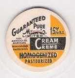 Buy CAN Montreal Milk Bottle Cap Name/Subject: Guaranteed Pure Milk Co. Cream~111
