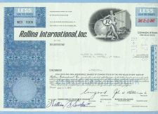 Buy DE na Stock Certificate Company: Rollins International, Inc. ~66