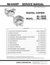 Buy Sharp AL1633-1644 SM GB Manual by download #179096