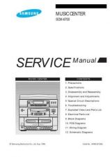 Buy SAMSUNG SCM-6700 Service Data by download #133443